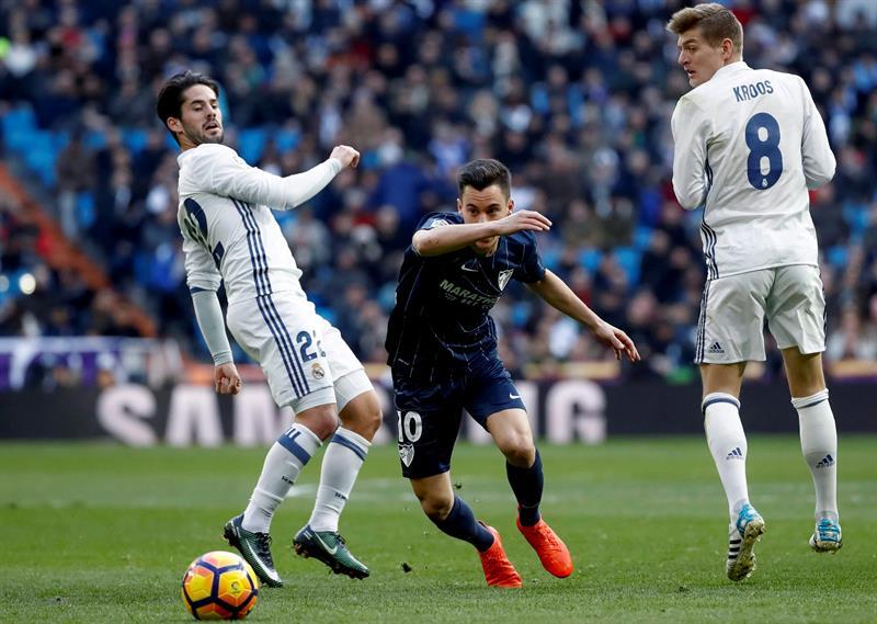 Añor fue el mejor jugador del Málaga /Foto EFE