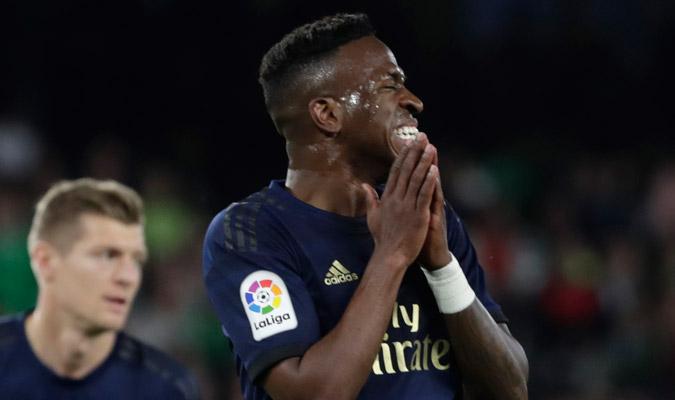Vinicius estuvo poco certero en ataque/ Foto AP