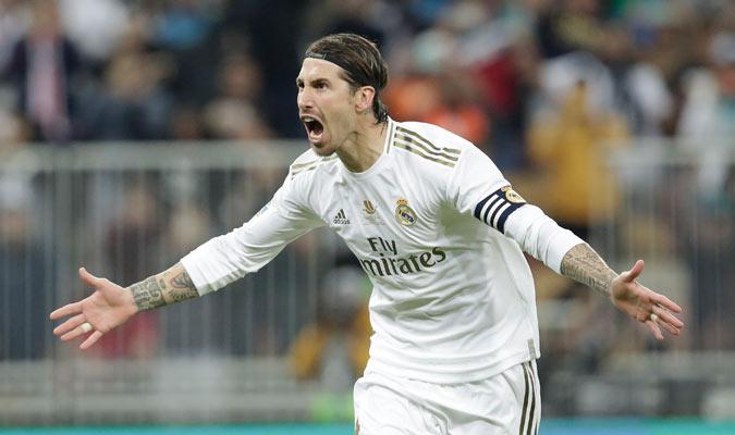 Sergio Ramos anotó el penal del triunfo/ Foto AP