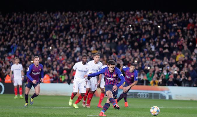 Coutinho abrió el camino con su gol de penal/ Foto AP