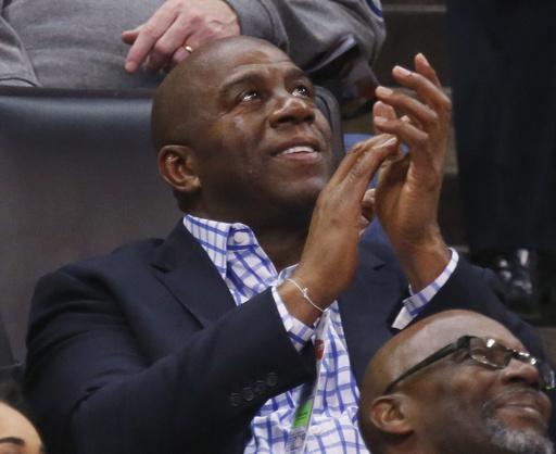 """""""Magic"""" ahora está al frente de los Lakers /Foto AP"""