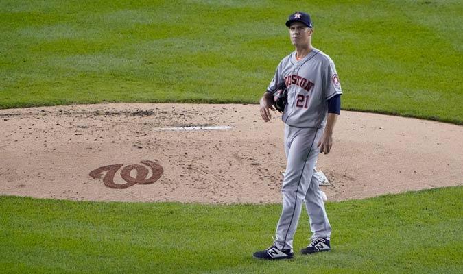 Greinke comenzó a tener algunos problemas/ Foto AP