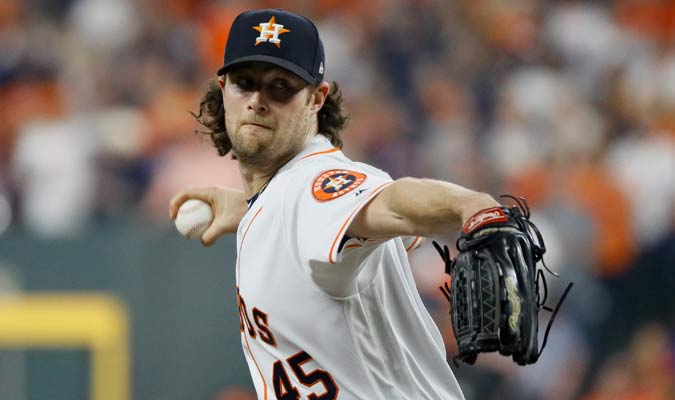 Cole fue el encargado de abrir por los Astros/ Foto AP