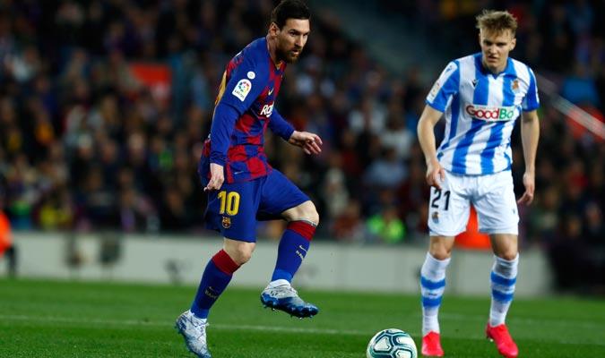 Messi llevó el ataque blaugrana/ Foto AP