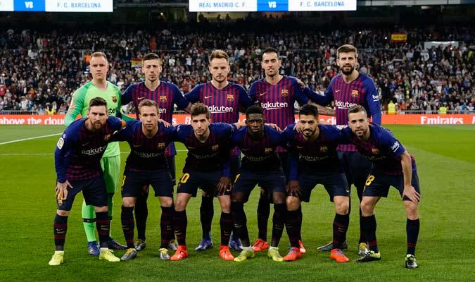 El 11 inicial del Barcelona/ Foto AP