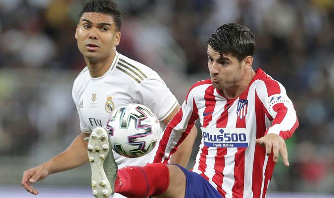 Morata batalló ante la defensa del Madrid/ Foto AP