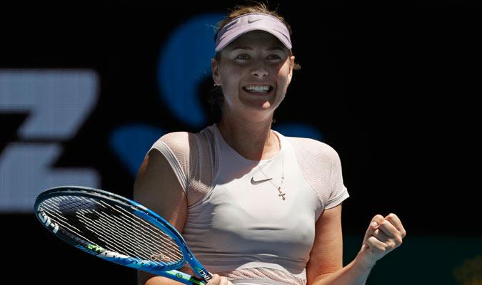 María Sharapova tuvo un feliz retorno a Melbourne