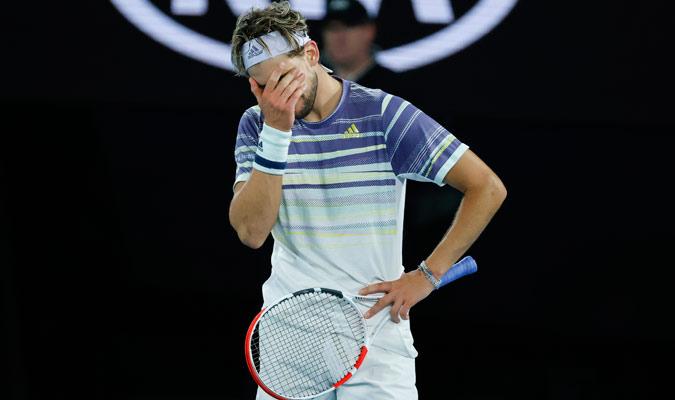 El austriaco se derrumbó con el correr del partido/ Foto AP