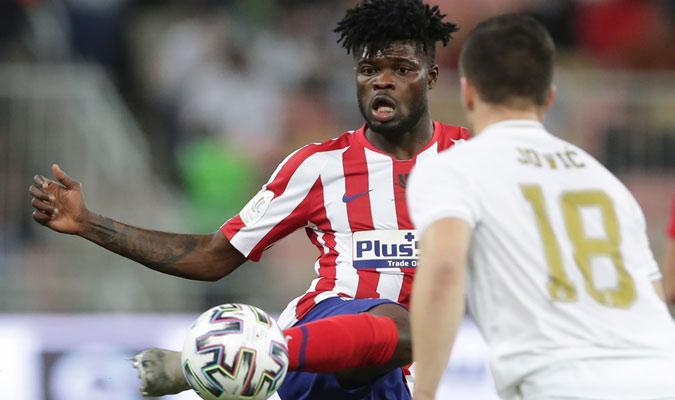 Thomas fue quien mantuvo el mediocampo del Atlético/ Foto AP