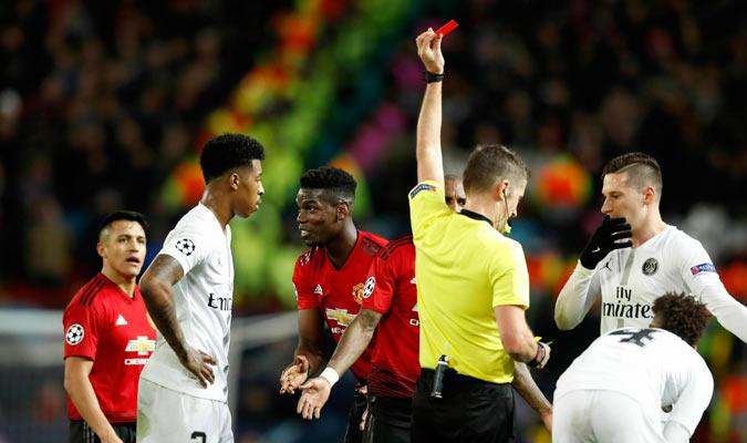 Pogba sería expulsado dejando una mala imagen/ Foto AP