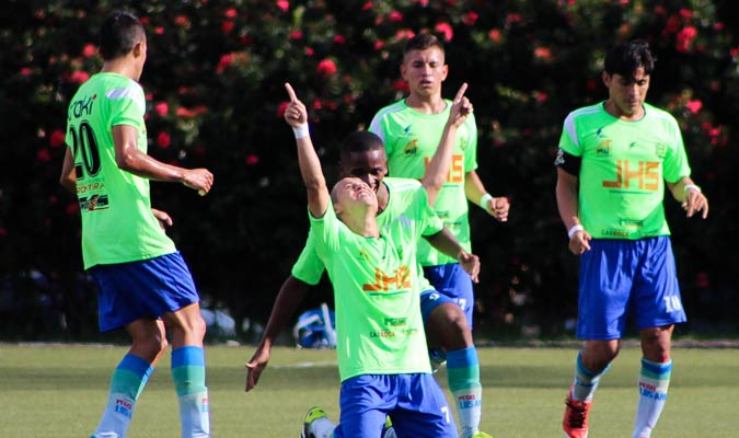 Ureña SC celebra el gol que abrió el marcador en el Misael Delgado