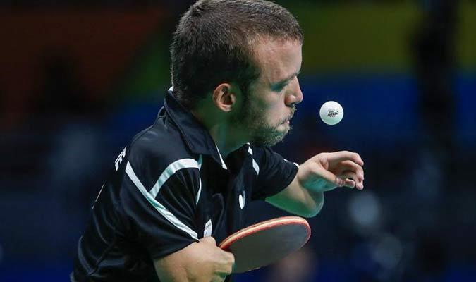 El español Alberto Seoane participa en la prueba de tenis de mes / EFE