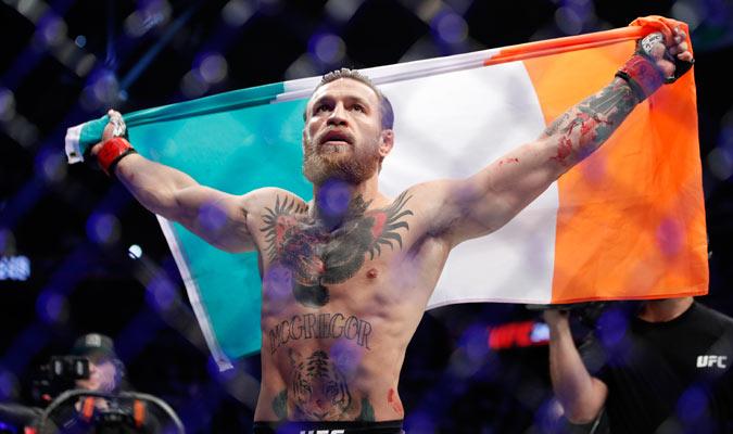 El irlandés hizo prueba de su amor por su país/ Foto AP