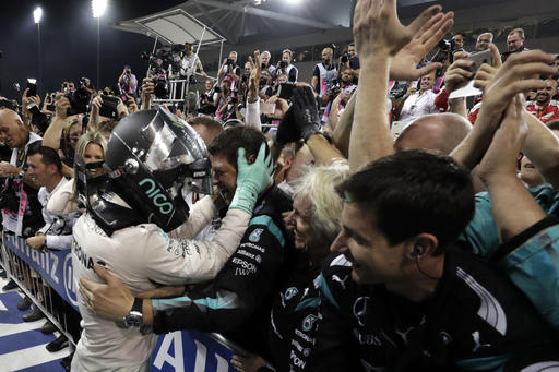 Rosberg siguió celebrando /Foto AP