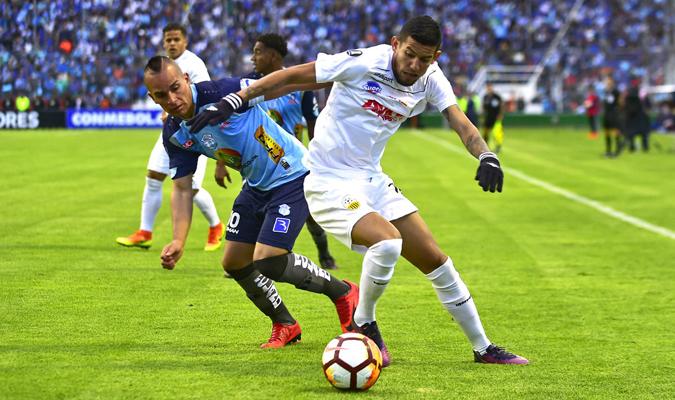 Deportivo Táchira sacó un valioso empate 1-1 en su visita al Macará ecuatoriano | Foto: @CONMEBOL