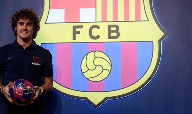 Griezmann arribó a Barcelona este sábado / Foto: Cortesía