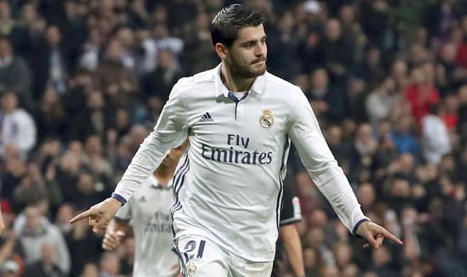 Álvaro Morata se lanzó una joya de gol ante el Deportivo La Coruña / Foto EFE