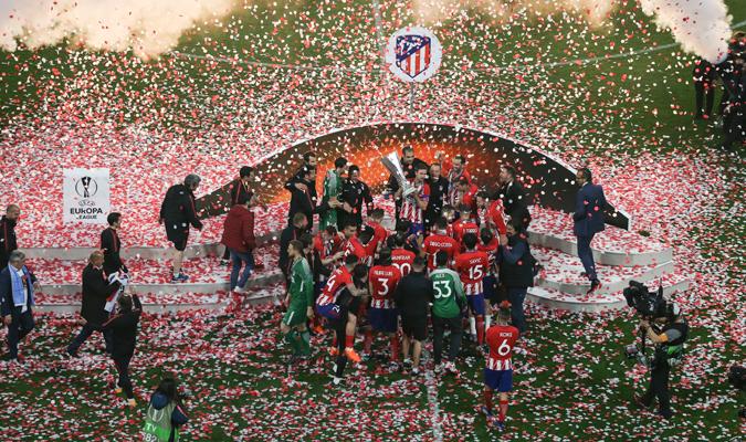 Atlético celebró por todo lo alto / Foto Elyxandro Cegarra