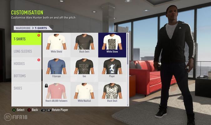La vestimenta será otro factor en el FIFA 18 / Foto EA Sports