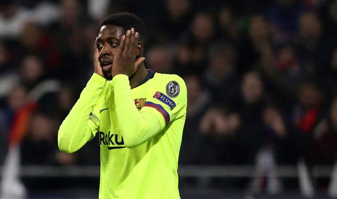 La cara de Dembelé fue la que le quedó a todos los fanáticos culés/ Foto AP