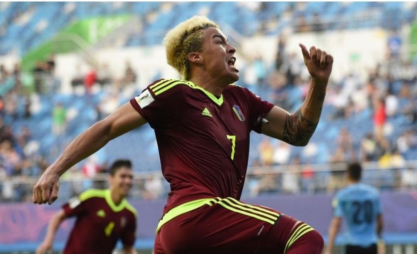Peñaranda celebra la victoria /Foto FIFA