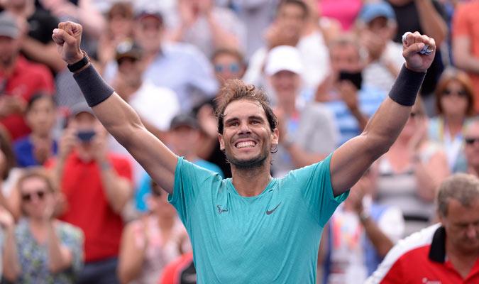 El mallorquín celebrando el triunfo/ Foto AP