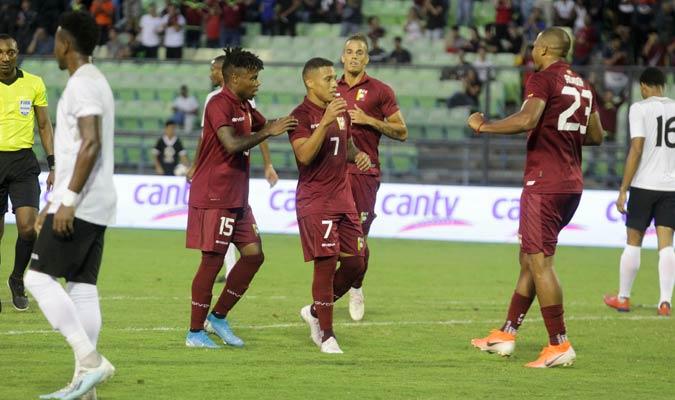 Machís se encargó de marcar el segundo tanto/ Foto César Suárez