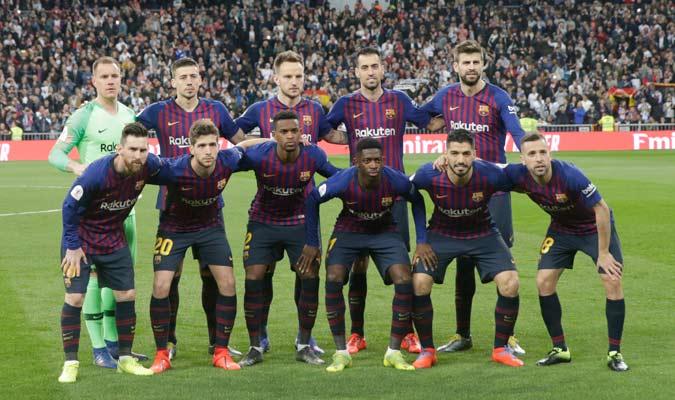 El Barça sañió con su 11 de gala/ Foto AP