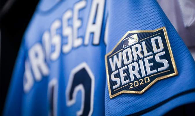 El detalle del logo de la Serie Mundial