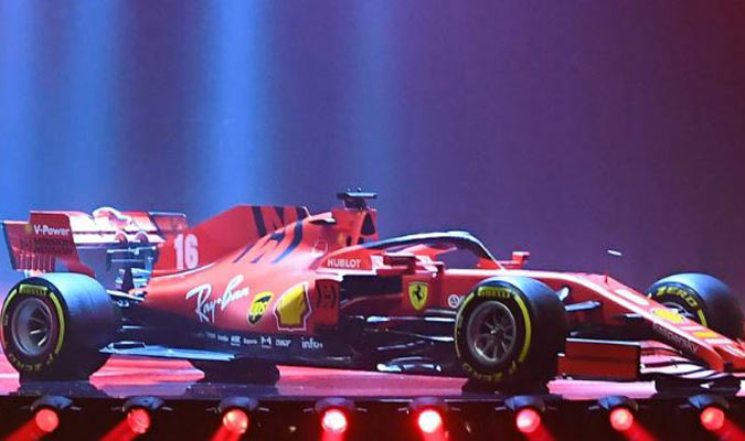 Así de magnífico se presentó el nuevo Ferrari/ Foto FERRARI PRESS OFFICE AFP