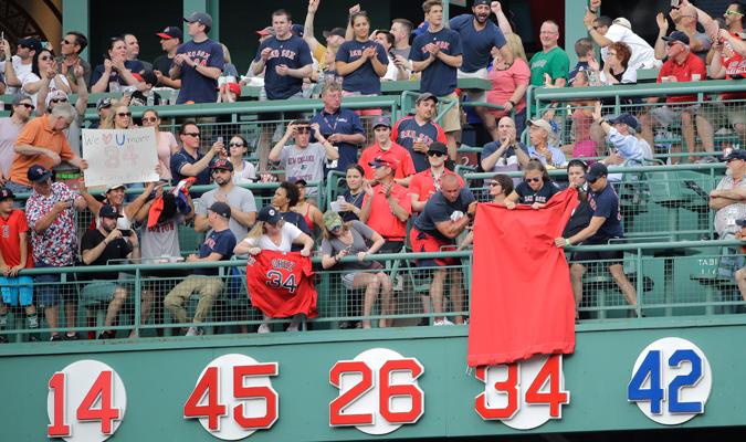 El momento esperado llegó y ya es inmortal de Boston / Foto AP