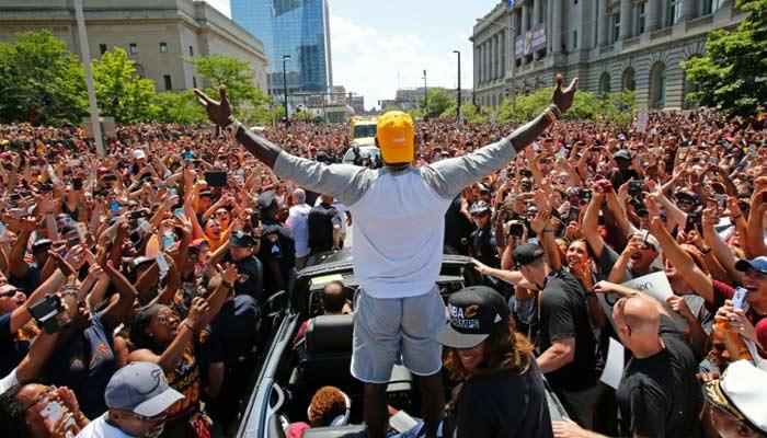 La celebración del campeonato en Cleveland fue impresionante /Foto AP