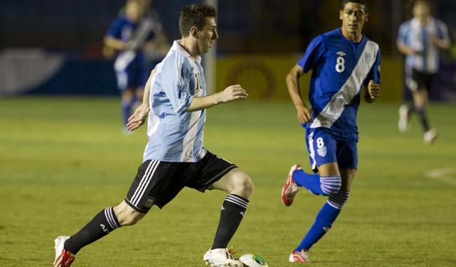 Messi se lució frente a los centroamericanos