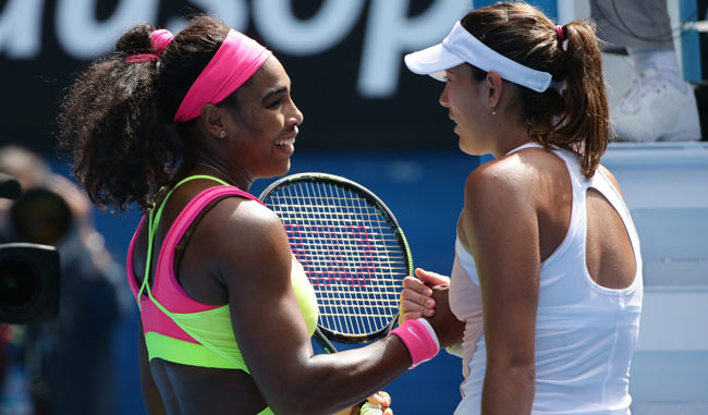 Serena Williams avanza a cuartos sobre Muguruza