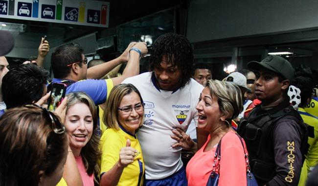 Ecuador llegó a territorio criollo para su duelo ante el combinado nacional | Foto: Francisco Bruzc