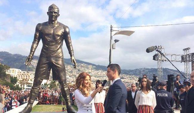Cristiano Ronaldo ya tiene su estatua en Madeira